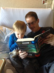 "Daddy Reads to Paul in the Hospital • <a style=""font-size:0.8em;"" href=""http://www.flickr.com/photos/109120354@N07/32957595152/"" target=""_blank"">View on Flickr</a>"