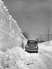1945 New York Lake Effect Snow (Brownie Hawkeye Pics) Tags: snow lakeeffect 1945 weather winter severeweather meteorology snowplow westernnewyork castile perry fingerlakes lakeerie lakeontario