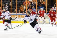"""Missouri Mavericks vs. Allen Americans, March 3, 2017, Silverstein Eye Centers Arena, Independence, Missouri.  Photo: John Howe / Howe Creative Photography • <a style=""""font-size:0.8em;"""" href=""""http://www.flickr.com/photos/134016632@N02/33117920642/"""" target=""""_blank"""">View on Flickr</a>"""