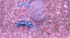 I'm Late (Taylor Wassep) Tags: secondlife cureless truth antielle drd deathrowdesigns thearcadegachaevent thearcade ancltd aliceinwonderland ariskea clock time mesh blue flowers roses blood taylorwassep