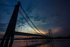 Dusk moment (bdrc) Tags: asdgraphy sunset evening bridge broken abandoned unfinished hanging dusk putrajaya sony nex6 lake tokina 1116 ultrawide zoom scenery urban landscape structure architecture reflection