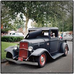 1934 Ford V8 Truck (NoJuan) Tags: ford tlr film rolleiflex mediumformat pickup 120film v8 carshow twinlens tessar 120rollfilm kodakportra160 fordv8 americanpickup rolleiflex35a