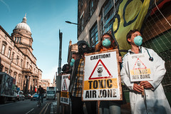 Activists gather to demand clean air as Edinburgh Air Pollution Zone to be expanded. (Friends of the Earth Scotland) Tags: travel festival scotland edinburgh gas masks health environment activism active airpollution gbr