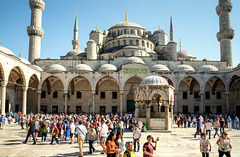 Tourists in Istanbul (danielfoster437) Tags: travel vacation turkey islam prayer religion middleeast istanbul mosque tourists dome bluemosque islamicarchitecture istabul onvacation sultanahmedmosque turkishmosque istanbularchitecture visitistanbul islamictourism istanbultourism famousmosque crowdoftourists luemosque touristsvisiting