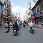 Vespatour in Saigon