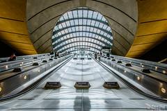 Tunnel Vision (docjfw) Tags: uk london architecture underground escalator tube tunnel londonunderground