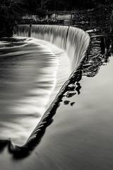 Mono Fall (Squareburn) Tags: longexposure blackandwhite mono northumberland weir rivercoquet longexposurewater guyzance