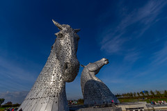 The Kelpies (taylorgray85) Tags: blue autumn summer sky horse silver scotland stirling falkirk the kelpies
