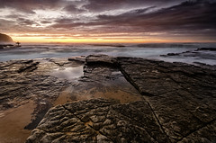Dawn Patrol Redux (Crouchy69) Tags: ocean sea sky people seascape beach water clouds sunrise landscape person dawn coast rocks surf waves surfer sydney australia figure turimetta
