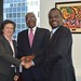 Ceremony:Trinidad and Tobago contributed U$1 million to support Haiti's ongoing electoral process