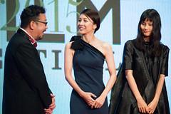"Nakamura Yoshihiro, Takeuchi Yuko & Hashimoto Ai ""The Inerasable"" at Opening Ceremony of the 28th Tokyo International Film Festival"