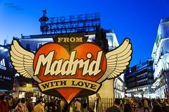 Madrid with love... (Peppis) Tags: madrid españa night nikon nightlights nightshot bluehour spagna nationalgeographic nightimage orablu peppis portadelsol nikond7000 nikonclubit
