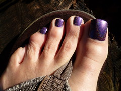 Beautiful Purple Holo from OPI (DS Glamour) (toepaintguy) Tags: she boy man sexy male men guy feet beautiful kids fun foot amazing cool nice glamour perfect paint pretty purple masculine sandals painted gorgeous nail great ds style polish mani glossy attractive finish stunning manicure pedicure he sandal polished stylish paints holographic lacquer holo opi pedi lacquered polishes