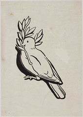 Dove with olive branch, c.1910.