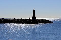 El faro (camus agp) Tags: espaa faro mar agua poniente marbella reflejos puertos banus