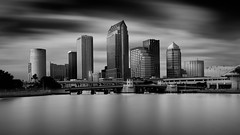 Tampa Skyline (josesuro) Tags: longexposure bw architecture digital tampa landscapes florida fineart cityscapes 2015 leebigstopper afsnikkor1835mmf3545ged jaspcphotography nikond750