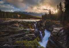 Sunwapta Falls, Canada (Albert Photo) Tags: canada nature water creek river landscape waterfall woods outdoor jaspernationalpark watercourse icefieldsparkway sunwapta banffnationalparks sunwaptafallswaterfalls