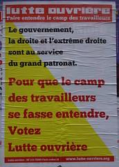 Pour que le camp des travailleurs se fasse entendre (emmanuelsaussieraffiches) Tags: poster political politique affiche lutteouvrire