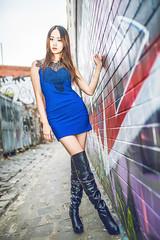 DSC_6649+ (Aventador_A) Tags: portrait sexy june photography boot graffiti nikon colorful afternoon dress sunny australia melbourne heel feeling nikkor jacky speedlight d800 1635mm fitzory streetsnap 2013 sb910