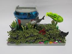 Undersea Condo (-Mike S-) Tags: underwater lego submarine undersea coralreef