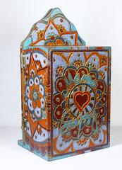 Mama Gipsy Artesanato dos Gatos (Mama Gipsy) Tags: art brasil cores de folkart minas arte box handmade no interior artesanato jewelry caixa em madeira mo brasileira woodburning vivas feito pirogravura jias pirography pirogravada