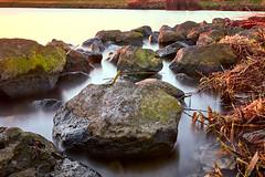 River stones 2 (MartinGJ56) Tags: zonsondergang longexposure herfst rivier river strekdam pier jaargetijde krib schalkwijk utrecht nederland waterweg landschap rots timeofdaydagdeel imagetype ned