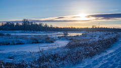 Low Sun and Snow (kensparksphoto) Tags: snow sunset late afternoon december cloud bowriver alberta canada cold