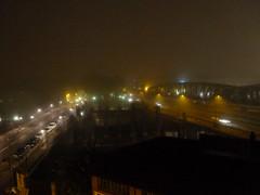 Des rails de brume (cbarthonnat) Tags: brume rails pont nuit