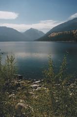 Wallowa Lake 14, 2016 (Sara J. Lynch) Tags: sara j lynch wallowa lake state park eastern oregon wallowas water mountains mountain view blue nikon n50 35mm film