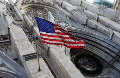 America (charlottehathawayfeatherstone) Tags: new york architecture buildings outdoor church flag