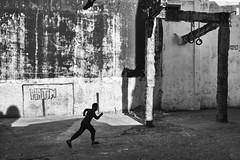 gym_inthemedina (enzo marcantonio) Tags: gym tanger tangier africa medina run boy bw blackandwhite street maroc marocco outdoor shadow streetphoto