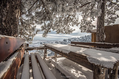 parnitha-katafigio-mpafi-snow-winter (couvanos) Tags: mpafi parnitha mountain refuge katafigio snow morning sun trees nature landscape naturelovers look love weather winter snowboarding snowboard snowing ski skiing sky clouds greece athens