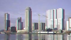Kop van Zuid vanaf metro-Station Rijnhaven 3D (wim hoppenbrouwers) Tags: kopvanzuid station rijnhaven 3d rotterdam anaglyph stereo redcyan urban wide hoogbouw bostonseattle neworleans buildings