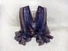 "Hand-painted pure silk scarf ""Lavender dream"" (arireven) Tags: pure silk chiffon scarf burgundy lavender handpainted handdyed whisperofsilk etsy"
