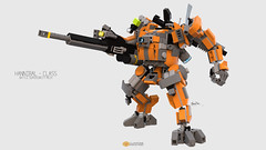 Hannibal Class Mech (clmntin.E) Tags: bluerender blue render moc mocs mech exo suits suit pov ray afol military futuristic my own creation argonaut destroyer walking walker mini miniland land minifig minifigurines figurines hard digital war hannibal class lego mechanical clmntine industries robot mecha