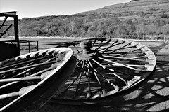 King Coal's carcass : Explored (cmw_1965) Tags: colliery pit coal mine pithead head gear wheels crynant dulais valley south wales cymru anthracite industrial neglect