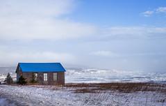 Windy Day (Danny VB) Tags: house school ocean atlantic canada quebec gaspesie canon 6d ef50mmf18ii winter snow dannyboy
