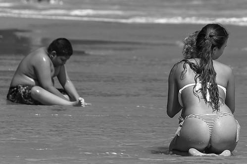 beach B&W