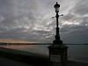 a Sandbanks sunset of sorts (dawn.v) Tags: sandbanks poole dorset uk england 2017 january winter cloudy chilly sea coast sunset beach lumixlx100 lamppost