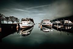 Austria - Bregenz (Tim RT) Tags: tim rt austria bregenz harnor boats mirror water sky blue fog reflection shadow fuji fujifilm xt xt2 xf1024mm travel flickr