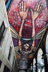 Bilbao Arches (Bruce Poole) Tags: brucepoole 2016 bilbao basque paysbasque cloister streetart mural ceiling spain spanish art contemporaryart urban urbano cite city ville metropolitan
