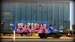 skizm (timetomakethepasta) Tags: skizm htk 2dx freight train graffiti art boxcar tarmac aok albany new york