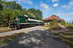 Highball! (ajketh) Tags: freight train acwr aberdeen carolina western star charlotte nc north emd sd403 abandoned station row candor