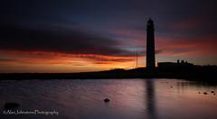 Barns Ness Lighthouse (ajp~) Tags: barnsness dunbar eastlothian scotland lighthouse water coast coastline beach pool rockpools reflections landscape longexposure clouds sky sunrise silhouette panorama canon 6d canon1740mmf4l alanjohnstone