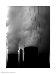 Ratcliffe Power Station I (Andrew James Howe) Tags: andrewhowe architecture blackandwhite buildings coolingtowers dusk drama england engineering energy fineart industrial industriallandscape uk light landscape mono nikon powerstation power ratcliffeonsourpowerstation ratcliffepowerstation sky smoke