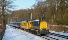 SHD 2205 + CTO Meetrijtuig + Plan E + Railpromo rijtuigen, Oosterbeek 27-1-2017 (justinvankempen) Tags: shd 2205 cto plan e railpromo prr sneeuw oosterbeek