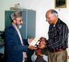 Dr Rafi Uddin Hashmi & Tariq Rehman Khawaja (Rashid Ashraf) Tags: ڈاکٹر رفیع الدین ہاشمی،drrafiuddinhashmi