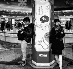 Mad at each other - Tokyo Street (-Faisal Aljunied-) Tags: backtoback japan tokyo streetphotography ricohgr faisalaljunied expression