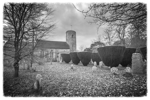 St Mary's Church Tasburgh B/W