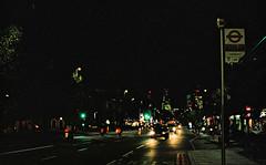 City from Mile End at Night (Matthew Huntbach) Tags: cityoflondon e1 fujipro400 night stepneygreen mileend eastlondon